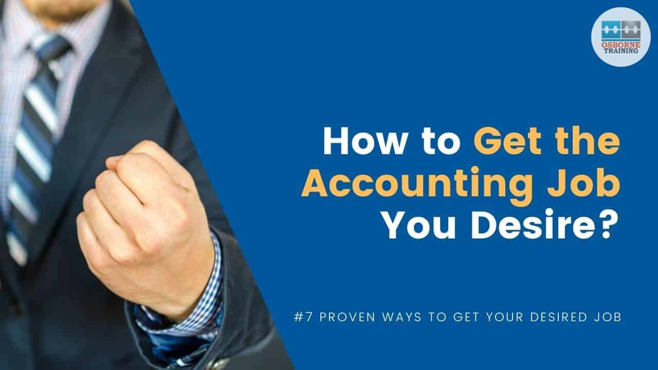 Tips to get job in accountancy
