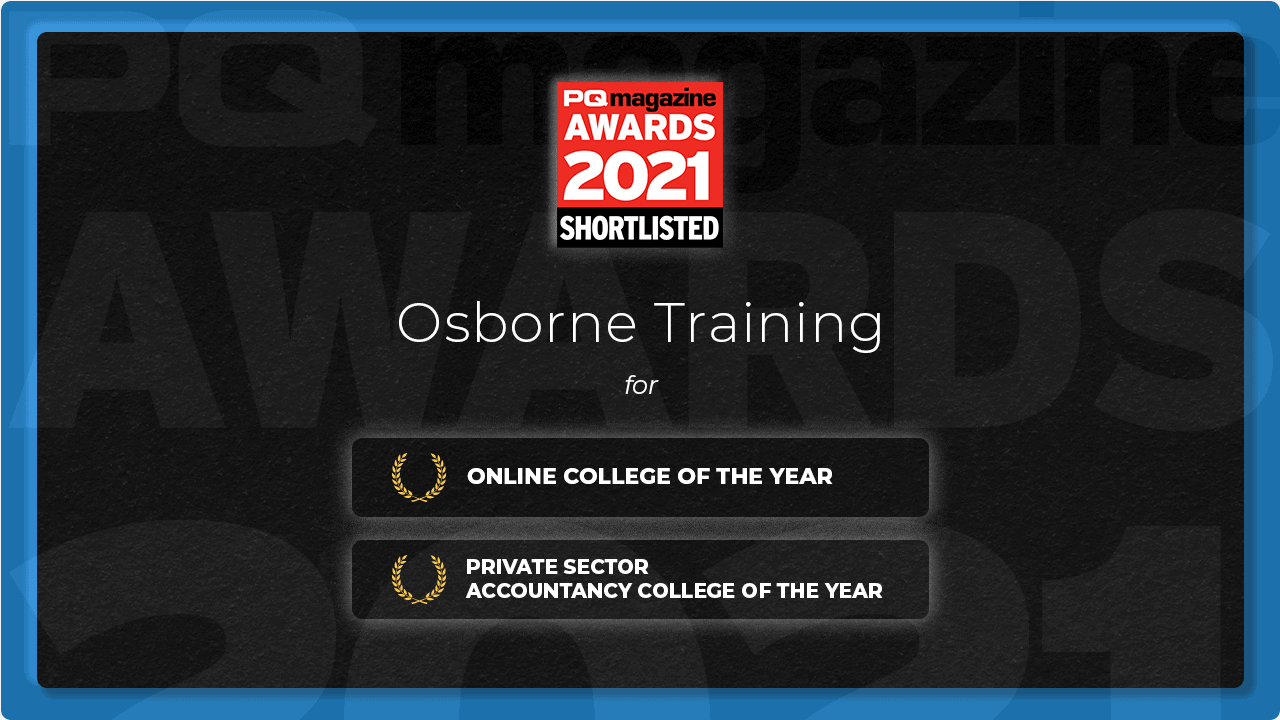 Osborne Training gets Nominated for PQ Magazine Awards 2021